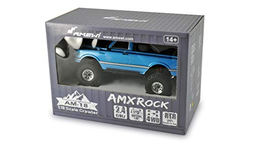 Amewi 22423 blau AMXRock AM18 Scale Crawler Pick-Up 1:18 RTR