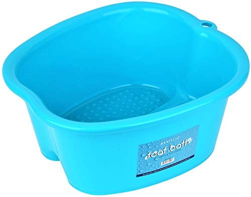 Mantello Foot Soaking Bath Basin - Large Tub for Home Spa, Soak, Pedicure & Massage - Feet Wash Bucket for Hot Water, Essential Oils, Epsom Salts - Callus & Dead Skin Remover - BPA-Free Plastic Soaker