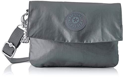 Kipling Osyka - Borse a tracolla Donna, Argento (Steel Grey Gifting), 21x15x3.2 cm (B x H T)