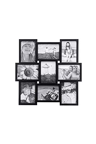 Malden International Designs Crossroads Puzzle Collage Picture Frame, 9 Option, 9-5x7, Black - 2119-957