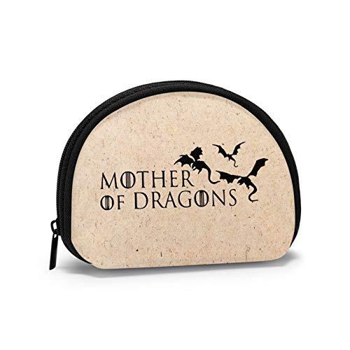 Monedero Madre de Dragones Shell Bolsa de Almacenamiento de las Mujeres Bolso Multifunción Portátil Bolsas de Cosméticos Cartera