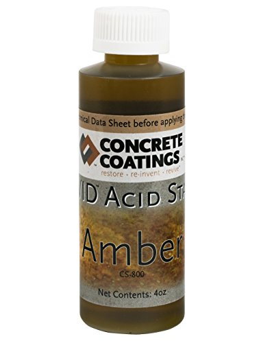 VIVID Acid Stain - 4oz - Amber (Slightly more Orange than Caramel)