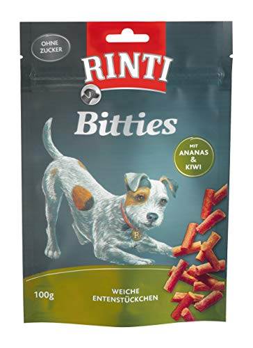 Rinti Hundesnacks Extra Mini-Bits Ente mit Ananas & Kiwi 100 g,12er Pack (12 x 100 g)