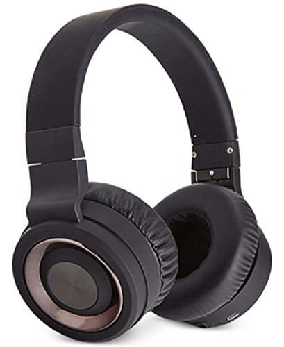 Sharper Image Bluetooth Wireless Headphones Black O/S