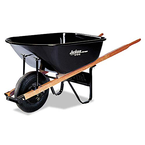 Jackson Contractors Wheelbarrows - 6cu.ft. Steel Tray Contractor Wheelbarrow -  Jackson Professional Tools, 027-J6