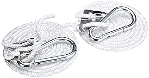 Kronenburg Hakenset für Hängematten, Silber, 4 teilig - Belastbarkeit bis 300 kg