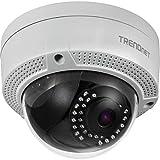 TRENDnet TV-IP329PI Indoor/Outdoor 4 MP (2560 x 1440) H.265 PoE-IR-Kuppel netzwerk kamera (Gehäuse mit Wetterschutzklasse IP67, IR-Nachtsicht auf bis zu 30m (98 Fuß))