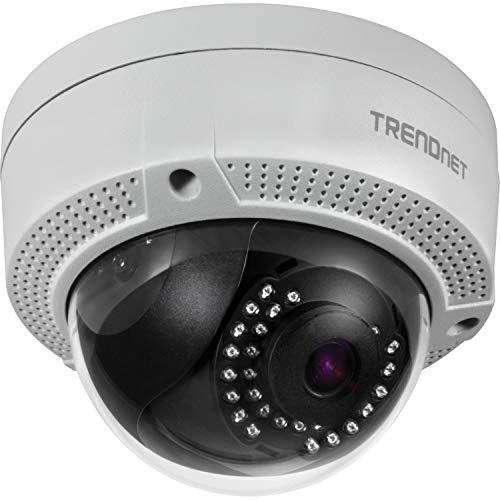 TRENDnet TV-IP329PI Indoor/Outdoor 4 MP, H.265 PoE-IR-Kuppel, netzwerk kamera, Wetterschutzklasse IP67, IR-Nachtsicht auf bis zu 30m (98 Fuß)