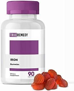 Iron Gummies with Vitamin C & A, B Complex, Zinc, Multivitamin Supplement for Women & Men, Adults & Kids - Non-GMO, Vegeta...