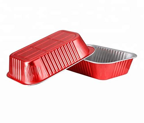 KEISEN 7 1/2 x5 12oz 620ml 24 / Pkdisposable Papel de Aluminio Copas para la Torta de la hornada Bake Utilidad Ramekin Copa Red