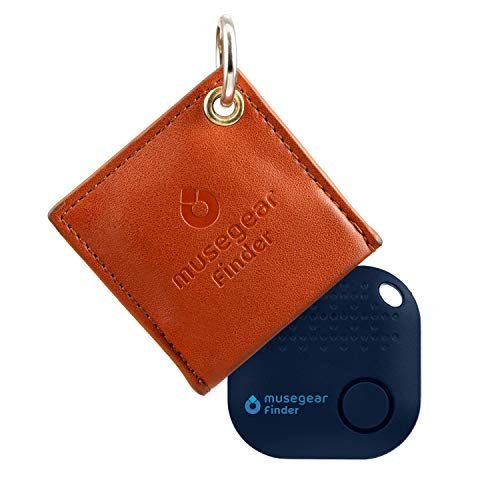 musegear app Key Finder avec Housse en Cuir - Marron - Finde