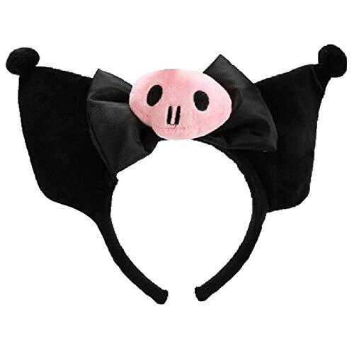 Kuromi Hairpin, Cute Ears Headband, Anime Cosplay Lovely Jk Kawaii Headwear Accessories for Girls Black
