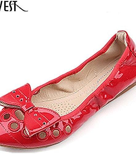 DFGBDFG PDX Damen Schuhe Patent Leder Leder Leder flach Heel Comfort Wohnungen Outdoor Office & Karriere  die beste Auswahl an