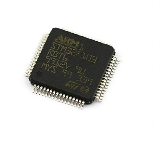 UIOTEC 5 PCS LQFP-64 STM32F103RBT6 STM32F103 LQFP64 128Kbytes Arm ST*
