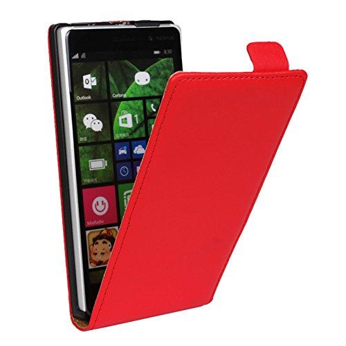 Eximmobile Flipcase Handytasche Etui Tasche für Microsoft Lumia 950 Rot