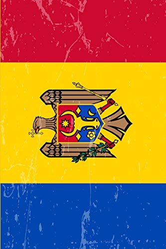 Moldova Flag Journal: Blank lined Notebook to write in