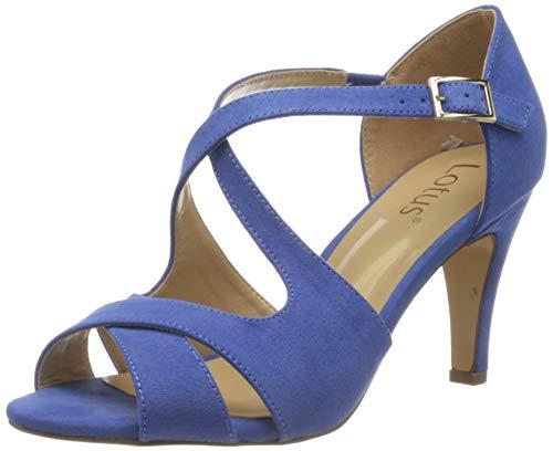 Lotus Damen Sadia Peeptoe Pumps, Türkis (Cornflower Blue), 41 EU