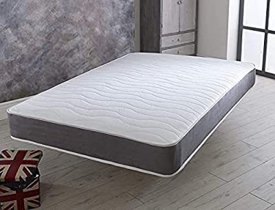REVE BEDS Hybrid Memory Foam Mattress Quilted Spring Double 4ft6 (135cm) Width x 6ft3 (190cm) Length