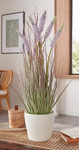 """Kunstpflanze """"Lavendel"""" 60 cm hohe künstliche Zierpflanze, Dekogras, täuschend echt"""