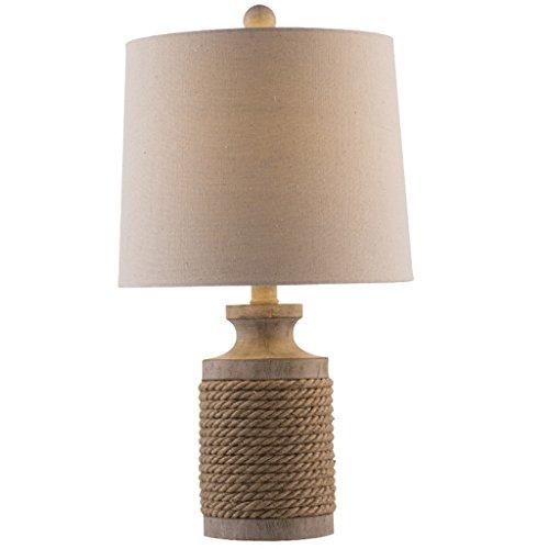 Tafellamp met touw, creatief, moderne kamer, led-bedlamp, een bar in Europese stijl, decoratie, tafellamp, woonkamer, 50,5 x 30 cm
