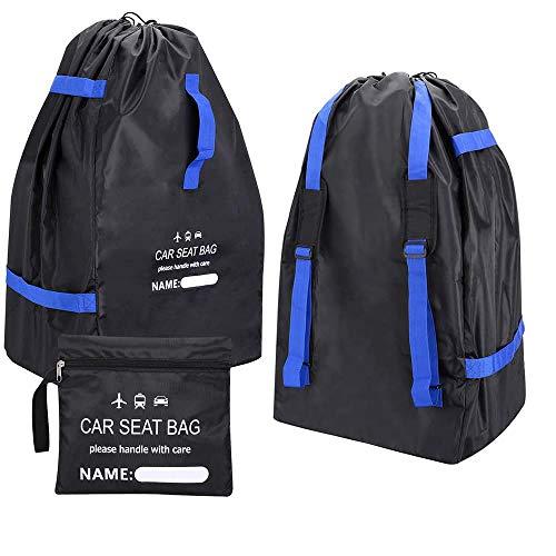 WANYIG Autositz Reisetasche Gepolstert,Kinderwagen Transporttasche Flugzeug Wasserdicht Faltbarer Reisetasche 300D Oxford für Autositze, Kinderwagen, Autokindersitze, Rollstühle