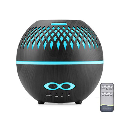 Diffuser with Remote, Ultrasonic Aroma Diffusers Humidifier, 400ml Aromatherapy Diffuser for Essential oils with Color Changing, Waterless Auto-Off