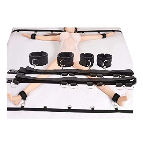 Mattress Straps Kit for Couples Adventure Game, Including Adjustable Wrist Straps and Ankle Straps