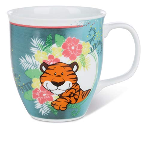 NICI 43923 Tasse Wild Friends 36 Porzellan, 410ml, Grün