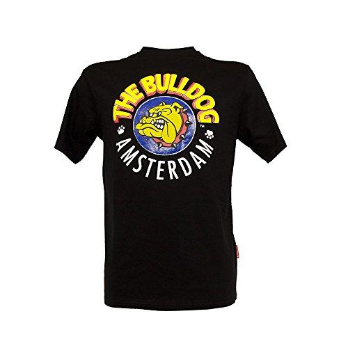 The BulldogT-Shirt Amsterdam, Rundhalsausschnitt, Farbe: Schwarz, Größe: L, Unisex