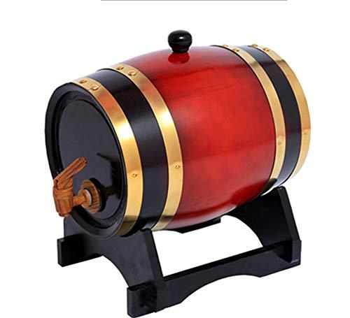 Eiken wijndispenser Eiken emmer 1,5 liter met kraan om Whiskey/Bier/Wijn/Bourbon/Brandy/Hete saus/Wijndispenser Geesten Wijnvaten Wijnhouder 5
