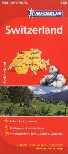 Mapa National Suiza (Mapas National Michelin) [Idioma Inglés]