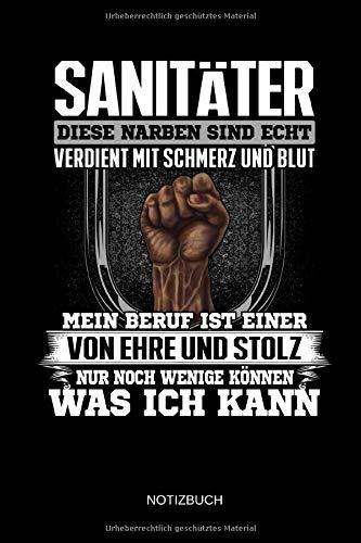 Notizbuch: Lustiges Sanitäter Notizbuch mit Punktraster. Sanitäter Zubehör & Sanitäter Geschenk Idee.