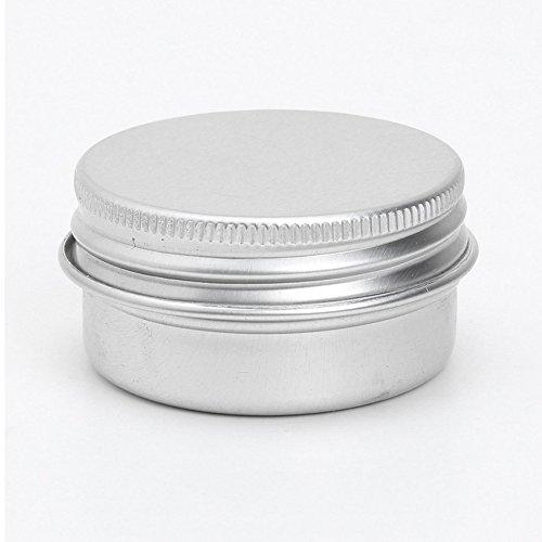 Conteneurs cosmetiques - TOOGOO(R) 50 x conteneurs cosmetiques vides couvercle a vis du recipient jar levre pot de baume en aluminium 15ml