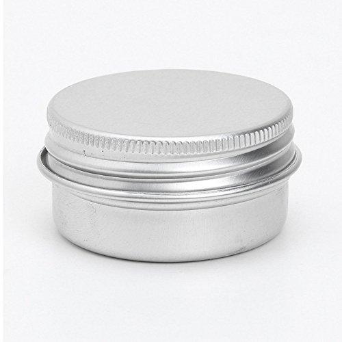 Conteneurs cosmetiques - TOOGOO(R) 5 x conteneurs cosmetiques vides couvercle a vis du recipient jar levre pot de baume en aluminium 15ml