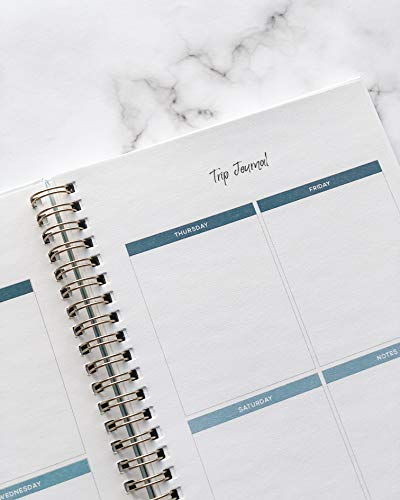 Product Image 3: Travel Planner Journal for Women– Travel Notebook and Vacation Journal for 6 Trips– A Great Travel Gift – Undated, 6 Trips