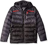 Spyder Boys Timeless Hoodie Synthetic Down Jacket – Paneled Puffy Lightweight Hooded Full Zip