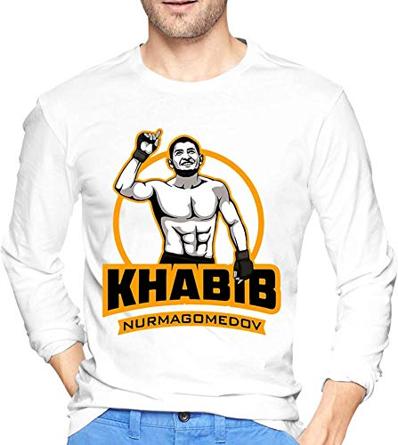 Crew Neck Khabib Nurmagomedov Men's Cotton T-Shirt Sun Protection Outdoor Long Sleeve Sweater