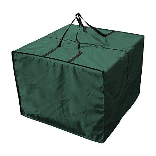 78Henstridge Aufbewahrungstasche und Schutzhülle für Auflagen Tragetasche,Gartenauflagen Schutzhülle Tasche mit Tragegriff,Wasserdicht 81X81X61cm (Grün)