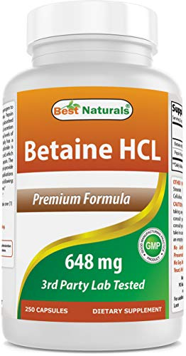 Best Naturals Betaine HCL 648 mg 25…