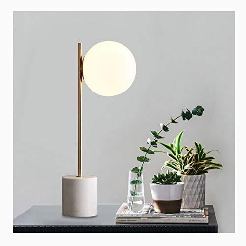 Tafellamp van metaal marmer basis slaapkamer nacht warm Amerikaans studie bureaulamp Personity Creatieve romantische tv-kast decoratieve tafellamp