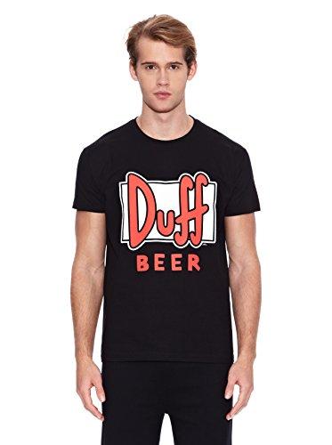 Madness Camiseta Manga Corta The Simpsons Duff Negro XL
