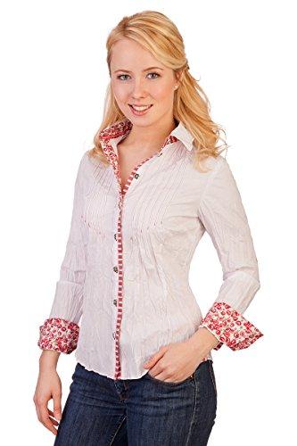 Spieth & Wensky Trachten Bluse Crashoptik, Langer Arm - PIRNA -, Größe 32