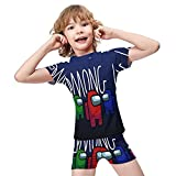 Kgblfd A-mong Us Kinder Badeanzug Jungen und Mädchen Anzug Cartoon Badeanzug Sonnenschutz Anzug Gr. 7-9 Jahre, Weiß-Stil 11