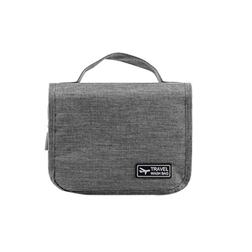 Hanging Bag Travel Cosmetic Kit Large Essentials Organizer Waterproof for Easter Gray
