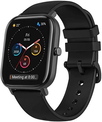 Amazfit Smartwatch GTS Farbdisplay Fitness Sportuhr 5 ATM wasserdicht mit GPS, Schrittzähler, Schlafmonitor, 12 Sportmodi für Damen Herren Sport