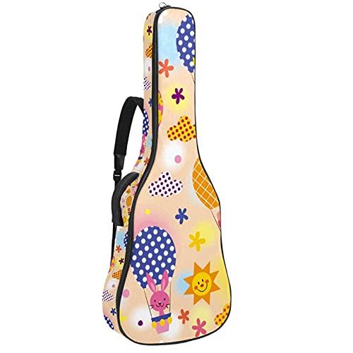 Funda para Guitarra Eléctrica Globo aerostático animal Bolsa Guitarra Acolchada 6mm Tela...
