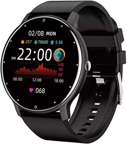 Reloj inteligente Frecuencia Cardíaca Monitor de Presión Arterial Pronóstico del Tiempo IP67 Hombres Mujeres Relojes Fitness Pulsera-A
