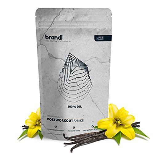 brandl® Protein-Pulver All-in-One nach dem Training | 5K-Protein-Mix, Kreatin, Ashwagandha, Magnesium, Probiotika & 10+ Superfoods | 1000g Vanille