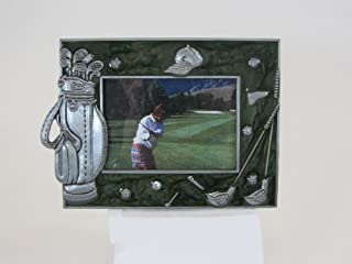 Navika PGA Golf Memorabilia Enamel and Pewter Photo Frame, Green, 2 1/2 x 3 1/2