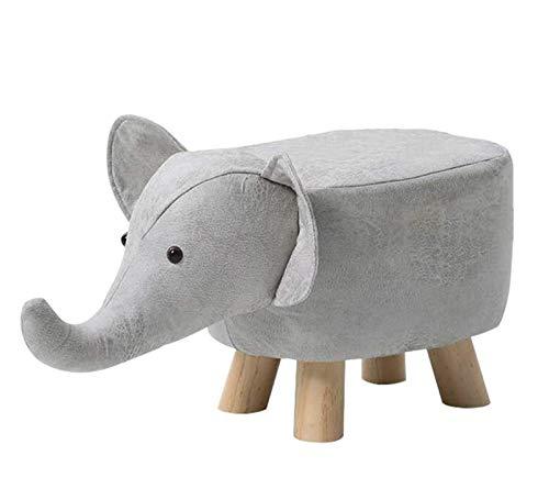 B&H-ERX Forma Animal poggiapiedi Imbottito Ottomani Cuscino Poggiapiedi Pouf Sgabello Elephant Resto sede del sofà Sedia per Bambini Che imparano Sgabello per Tutta la Stanza,Grigio